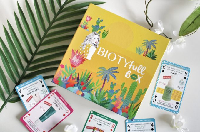 Biotyfull Box Août 2020, box beauté 100% Aloe Vera