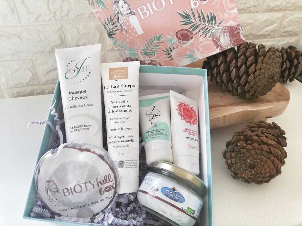 Contenu box beauté biotyfull box